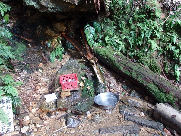 愛宕山にあった湧き水